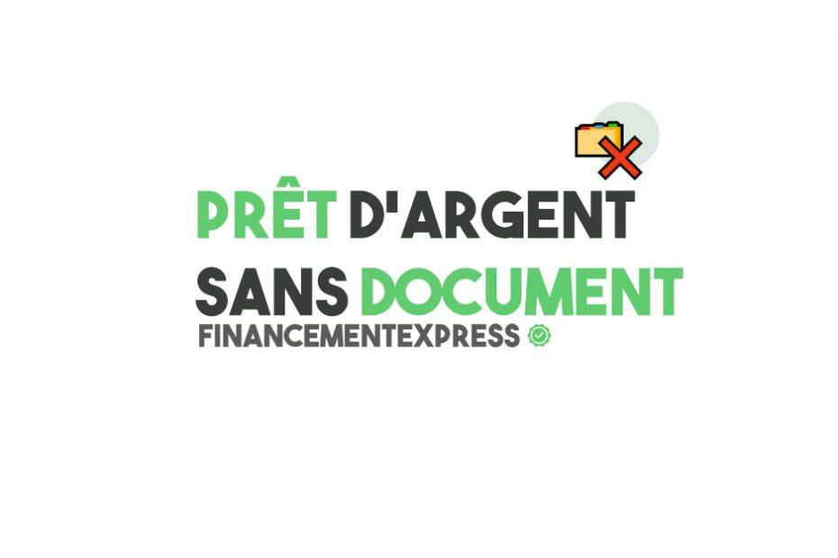 prêt d'argent sans document